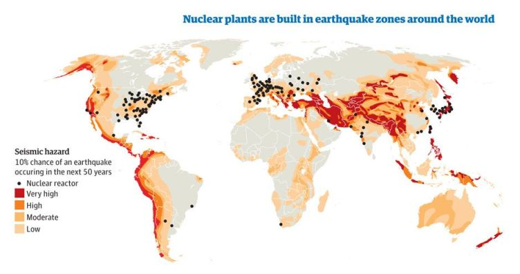 Earthquake zones