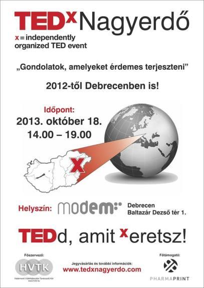 TEDxNagyerdő 2013 plakát
