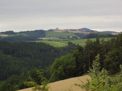 Jutalom kilátás az első domb tetején